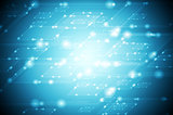 Abstract shiny blue tech background