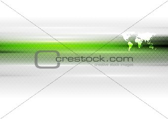 Green white hi-tech vector background