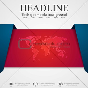 Abstract tech corporate flyer template design