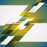 Hi-tech blue yellow geometric background