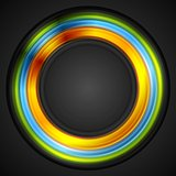 Colorful glowing circle vector logo