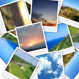 Polaroid photos abstract background