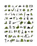 Fishing icons, sketch for your design