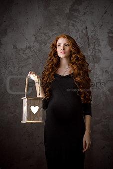 Beautiful pregnant woman conceptual photo
