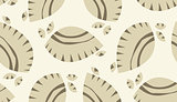 Brown Abstract Seashells Background