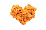 Chilli rice crackers in a heart shape