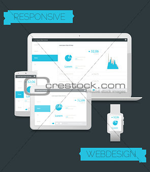 Adaptive webdesign technology mockup