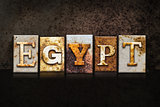 Egypt Letterpress Concept on Dark Background