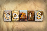 Goals Concept Rusted Metal Type