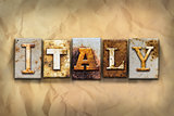 Italy Concept Rusted Metal Type
