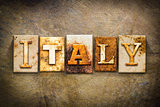 Italy Concept Letterpress Leather Theme