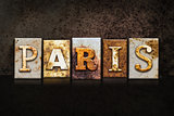 Paris Letterpress Concept on Dark Background