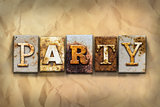 Party Concept Rusted Metal Type