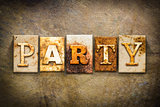 Party Concept Letterpress Leather Theme