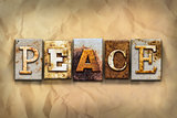 Peace Concept Rusted Metal Type