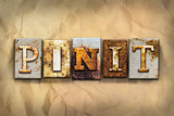 Pin It Concept Rusted Metal Type