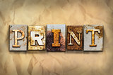 Print Concept Rusted Metal Type