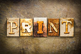 Print Concept Letterpress Leather Theme