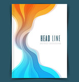 Colored waves design template
