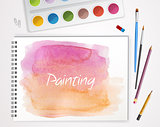 Art process with watercolor