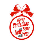 Merry Christmas and Happy New Year on a white background. Vector