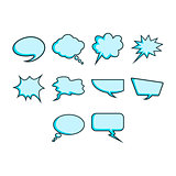 Word bubble icon set