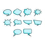 Word bubble icon set