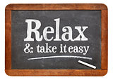 Relax and take it easy - advice on blackboard