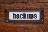 backups - file cabinet label