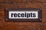 receipts - file cabinet label