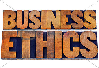 business ethics in wood type