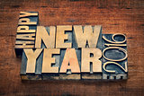 Happy New Year 2016 typograpjy