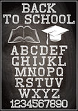 Black background with stylish alphabet for back to school