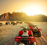 Quad bikes in desert