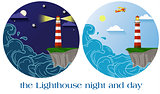 lighthouse night and day