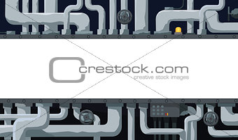 Background with pipeline