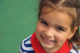 Close up of a smiling little girl