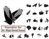 24 Vegetables Icons