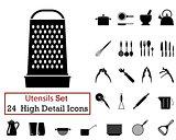 24 Utensils Icons