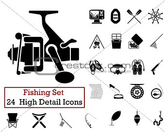 24 Fishing Fishing Icons