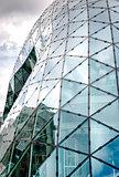 Exterior of futuristic office building