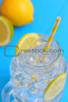 water with lemons