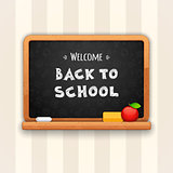 Welcome Back to School Written on Blackboard