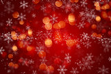 Christmas background with snowflake design and bokeh lights