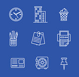 Vector illustration of business icons.