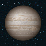 Planet Jupiter in space