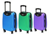 Colourful Luggages with Wheels