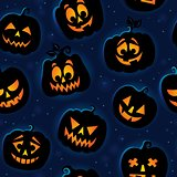 Halloween seamless background 6