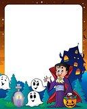 Halloween theme frame 7