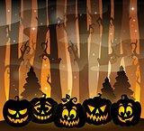 Pumpkin silhouettes theme image 2